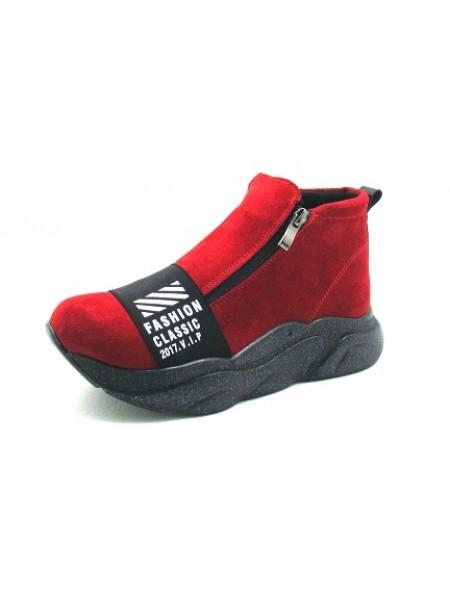Женские ботинки Haries 238ГП замш красный
