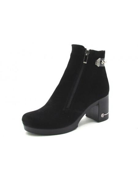 Женские ботинки Haries 312/5н замш черный