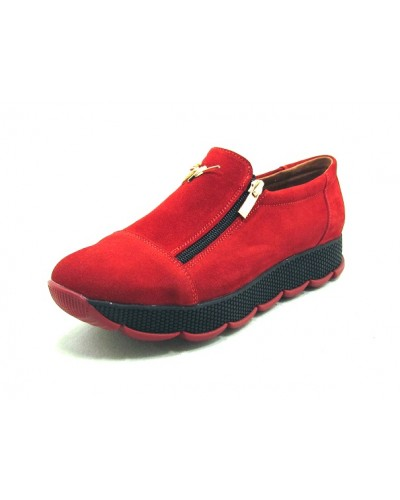 Женские туфли Haries 224/2 замш красный