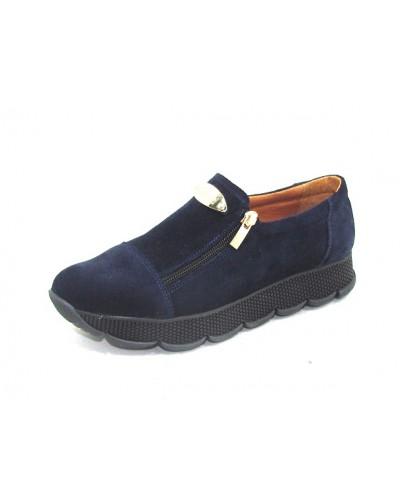 Женские туфли Haries 224/2 замш синий