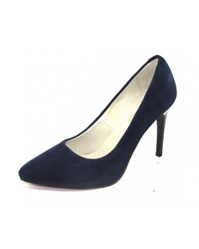 Женские туфли Haries 135 велюр синий