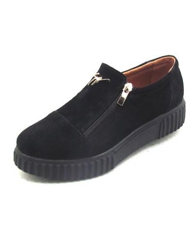 Женские туфли Haries 224/3 замш черный