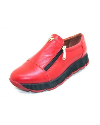 Женские туфли Haries 224/2 кожа красный