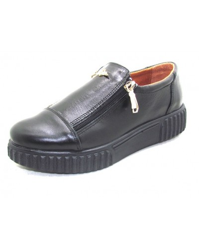 Женские туфли Haries 224/3 кожа черный