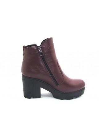 Женские ботинки Haries 787/1 кожа бордо