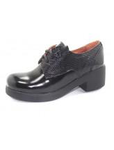 Женские туфли Haries 260/5 лак+лазер черный