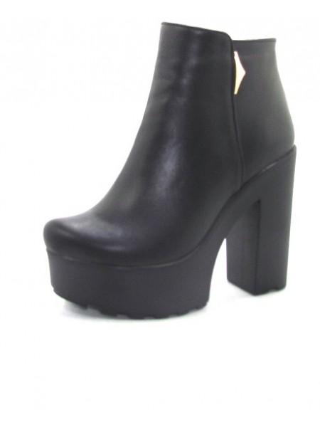 Женские ботинки Haries 0230 кожа черный
