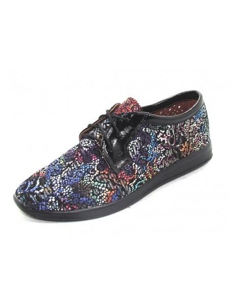 Женские туфли Haries 353/1 черная цветная