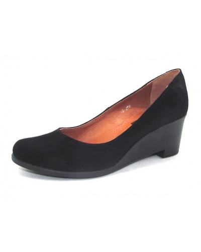 Женские туфли Haries 318Т замш черный