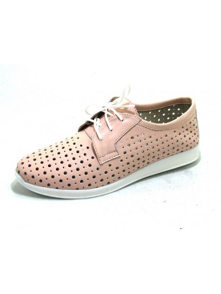Женские туфли Haries 353/1 кожа пудра