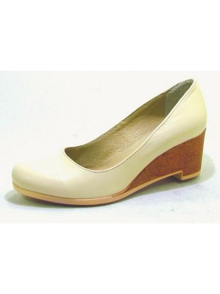 Женские туфли Haries 318Т кожа беж