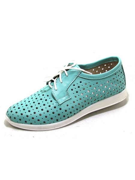 Женские туфли Haries 353/1 кожа мята