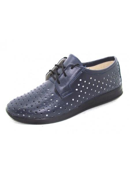 Женские туфли Haries 353/1 кожа синий