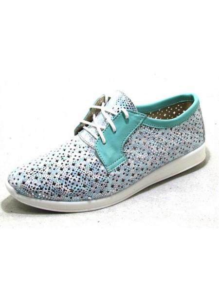 Женские туфли Haries 353/1 мята цветная