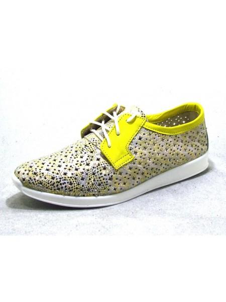 Женские туфли Haries 353/1 лимон цветная