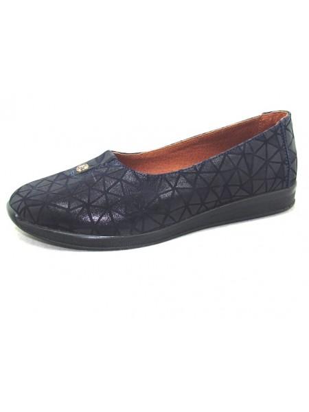 Женские туфли Haries 119 ромб синий