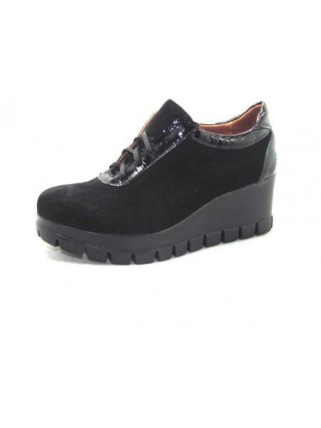 Женские туфли Haries 888T замш черный