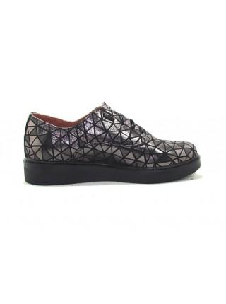 Женские туфли Haries 350 ромб серебро