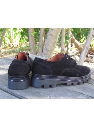 Женские туфли Haries 260/6 замш черный