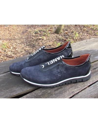 Женские туфли Haries 355лента терка синий