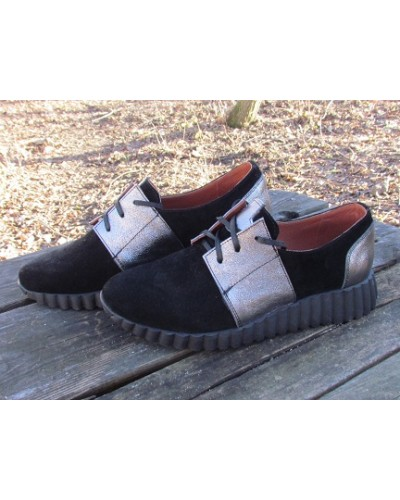 Женские туфли Haries 270 замш черный