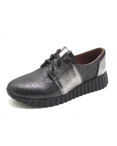 Женские туфли Haries 270 графит+серебро