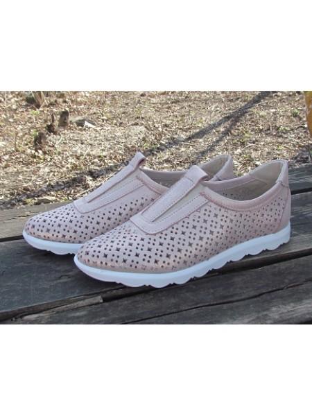 Женские туфли Haries 355/1 пудра перламутр