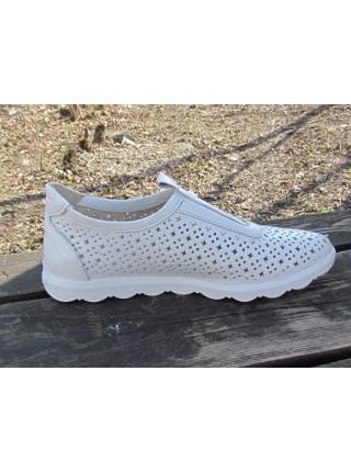 Женские туфли Haries 355/1 белый перламутр