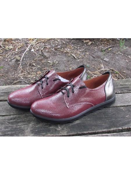 Женские туфли Haries 357 фл. бордо перламутр