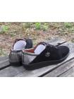 Женские туфли Haries 268 замш черный+с