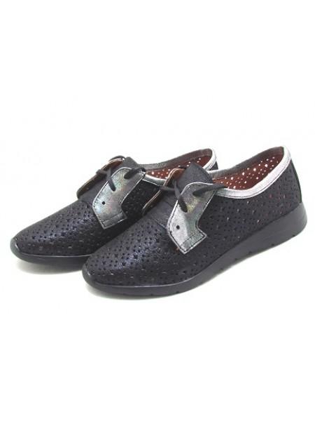 Женские туфли Haries 353/1 синий сатин