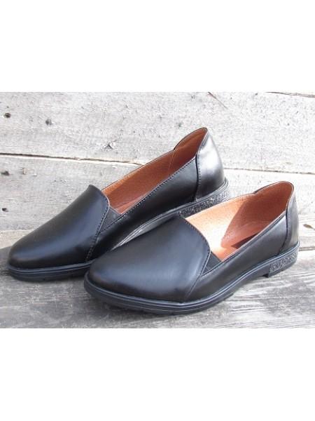 Женские туфли Haries 114К черная кожа