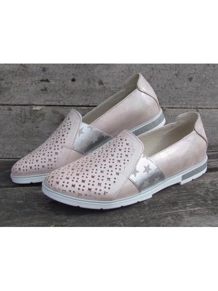 Женские туфли Haries 115/2К пудра сатин