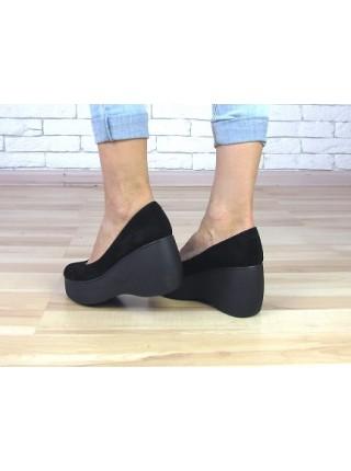 Женские туфли Haries 428 черная замша