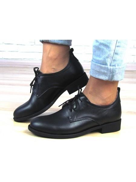Женские туфли Haries 280 черная кожа