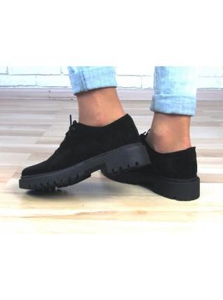 Женские туфли Haries 350/1 черная замша