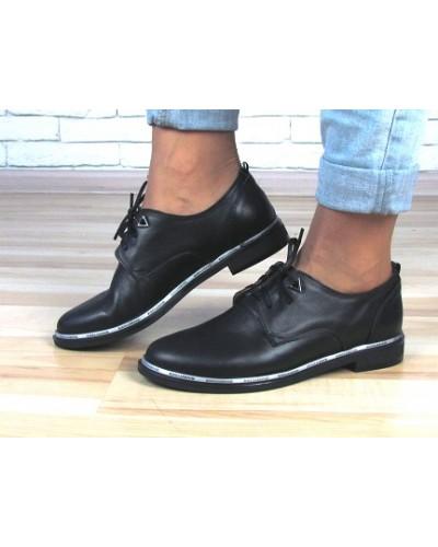 Женские туфли Haries 260б черная кожа