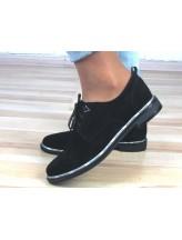 Женские туфли Haries 260б черная замша