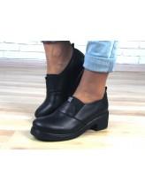 Женские туфли Haries 263к черная кожа