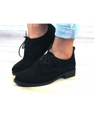 Женские туфли Haries 280 черная замша
