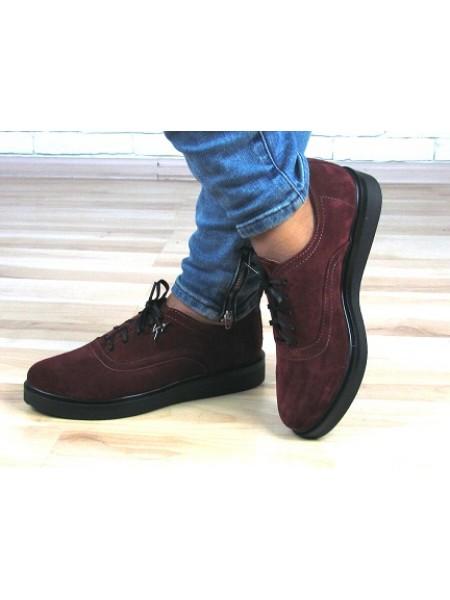 Женские туфли Haries 350 замш бордо