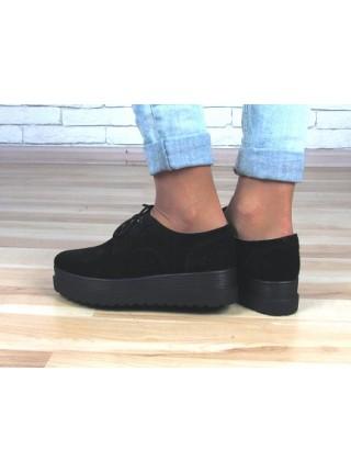 Женские туфли Haries 260/4 замш черный