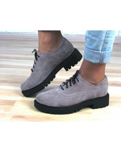 Женские туфли Haries 350/1 серая замша