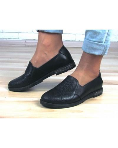 Женские туфли Haries 115 черная кожа