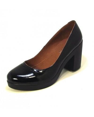 Женские туфли Haries 618 лак черный