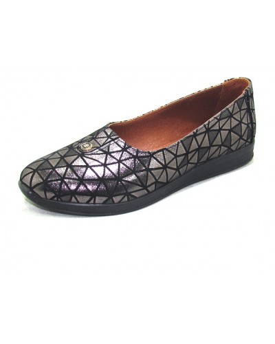 Женские туфли Haries 119 ромб серебро